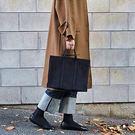商務公文包女帆布手提包文件包休閒學生布書包