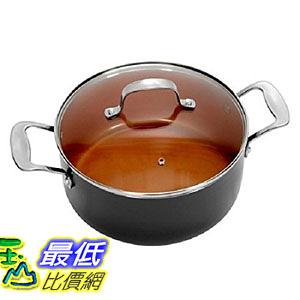 [8美國直購] 湯鍋 Gotham Steel Non-stick Copper 7 QT Heavy-duty Stock Pot Stovetop and Oven-safe up 500 deg
