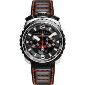 BOMBERG 炸彈錶 BOLT-68 霸氣黑紅計時手錶-黑/45mm BS45CHSP.050-4.3