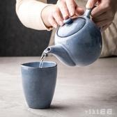 家用陶瓷小茶壺單個北歐復古涼水壺單壺茶具創意簡約淡雅茶水壺LXY3251【VIKI菈菈】
