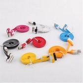 King*Shop~ 新 Apple 糖果彩色USB 傳輸線 iPhone4/4s/iPod/iPad系列 充電線 (1M)