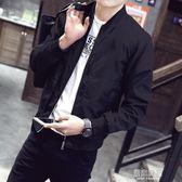 秋季外套男春秋韓版潮流修身青年帥氣上衣棒球服男士休閒秋裝夾克     原本良品