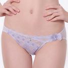 LADY 浪漫英倫系列 刺繡低腰三角褲(浪漫紫)