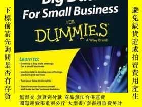 二手書博民逛書店Big罕見Data For Small Business For DummiesY410016 Bernard