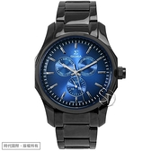 【台南 時代鐘錶 SIGMA】簡約時尚 藍寶石鏡面時尚腕錶 1018M-B3 藍/黑鋼 41mm 平價實惠好選擇