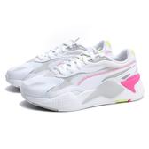 PUMA 休閒鞋 RS-X MILLENIUM 白灰 網布 麂皮 粉色縫線 運動 女(布魯克林) 37323604
