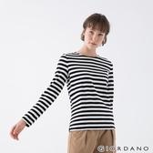 【GIORDANO】 女裝純棉條紋T恤 - 83 黑白條紋