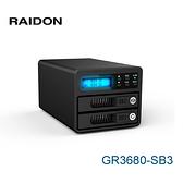RAIDON GR3680-SB3 SafeTANK系列 2.5吋/3.5吋 外接式 硬碟外接盒