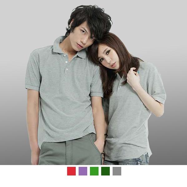 【男人幫】A0060*領子加厚 情侶可穿/混搭短袖素面POLO衫 可批發印製(灰色/桃紅/粉紅/深紅/深紫)