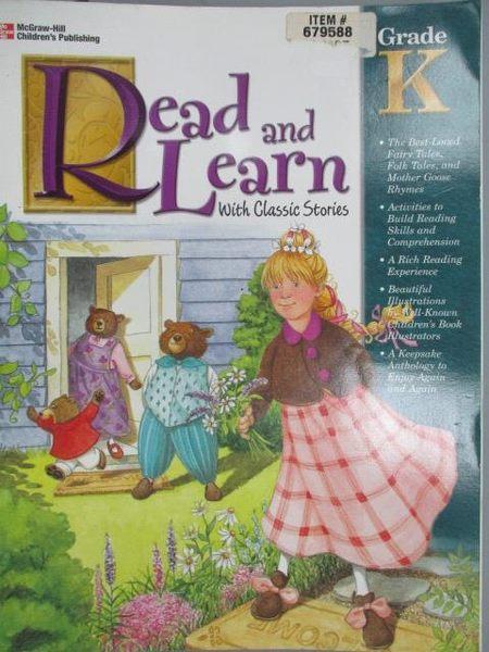 【書寶二手書T1/語言學習_XAG】Read and Learn with Classic Stories_Grade K