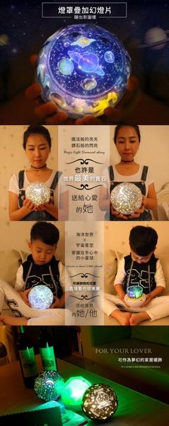 現貨!浪漫星空旋轉投影燈 特殊款 小夜燈 LED宇宙天體 星球 卡通 兒童慶生 床頭燈 #捕夢網