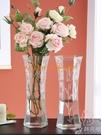 簡約玻璃花瓶透明北歐創意家用客廳擺件富貴竹插花瓶【少女顏究院】