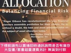 二手書博民逛書店Asset罕見Allocation: Balancing Financial RiskY464532 Roge