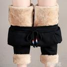 休閒褲 羊羔絨加絨運動褲女加厚寬鬆外穿冬...