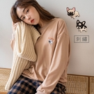 MIUSTAR 正韓-可愛法鬥刺繡棉質上...