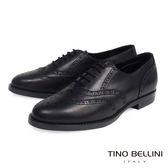 Tino Bellini義大利經典真皮雕花牛津鞋_黑 A83085 歐洲進口款
