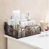 收納盒 梳妝台透明化妝品收納盒 桌面塑膠多格整理盒護膚品置物架 艾維朵