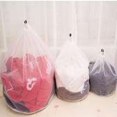 ♚MY COLOR♚加厚斜紋洗衣袋 抽繩 細網 清潔 衣物 護洗 保護 內衣 分類 晾曬 洗衣網 (中)【J94】