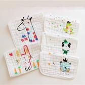 手帕 口水巾六層紗高密度卡通方巾可選 AIB小舖