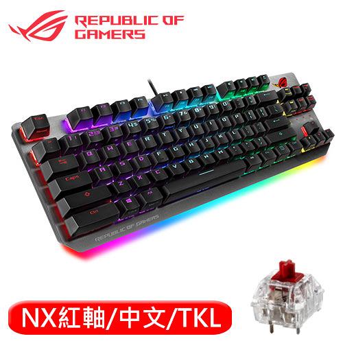 ASUS 華碩 ROG Strix Scope NX TKL RGB 80%機械電競鍵盤 紅軸