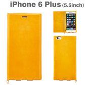 ❤Hamee 義大利 GALGANO 精緻工藝系列 牛皮 iPhone6 Plus 側翻式 附票卡夾 手機皮套 手機殼 黃色 41-842034