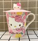 【震撼精品百貨】Hello Kitty 凱蒂貓~馬克杯附蓋-玫瑰*15703