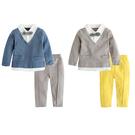 寶寶套裝 紳士造型上衣褲子假兩件上衣 領結英倫風小帥哥 92025