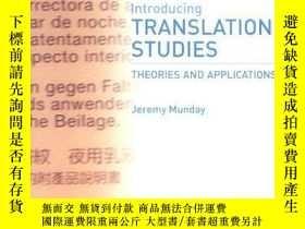 二手書博民逛書店Introducing罕見Translation StudiesY256260 Jeremy Munday R