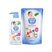 【佳兒園婦幼館】親貝比 雪芙蘭 嬰幼兒奶瓶清潔劑(1罐700ml+1包600ml)