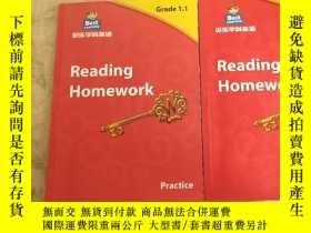 二手書博民逛書店貝樂學科英語罕見Reding Homework Grade1.1