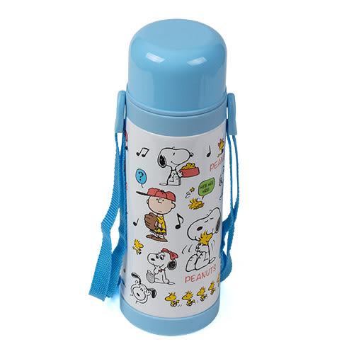 《Sanrio》SNOOPY 1公升家庭號大容量不鏽鋼保溫保冷水壺(好朋友)★funbox生活用品★ 215490