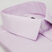 【金‧安德森】粉底白細紋長袖襯衫
