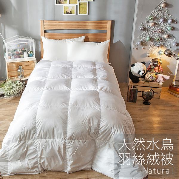 棉被 / 雙人【天然水鳥羽絲絨被-白色】輕盈透氣  蓄熱保暖  戀家小舖ADB200