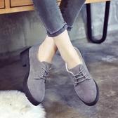 英倫復古女娃娃鞋 新款春季英倫小皮鞋女鞋子中跟粗跟百搭原宿休閒單鞋學生復古 99