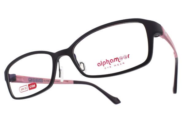 Alphameer 光學眼鏡 AM36 C104 (紫-粉紅) 百搭學院風 塑鋼眼鏡 # 金橘眼鏡