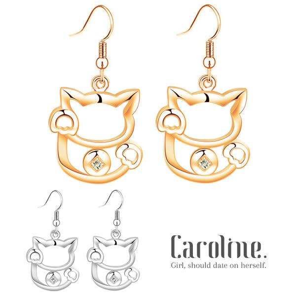 《Caroline》★2017招財貓開運時尚品味流行時尚耳環69219