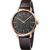 Calvin Klein CK Even 超然木質時尚手錶-灰/42mm K7B216G3
