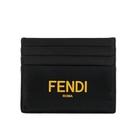 【FENDI】Logo字樣小牛皮名片/卡片夾(黑色) 7M0164 ADM8 F0R2A