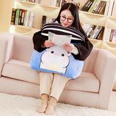 龍貓帶頭枕床頭倉鼠靠墊背三角抱枕沙發辦公室飄窗腰枕腰靠護腰枕