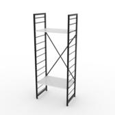 (組)特力屋萊特二層架黑框/白板-60x40x158cm