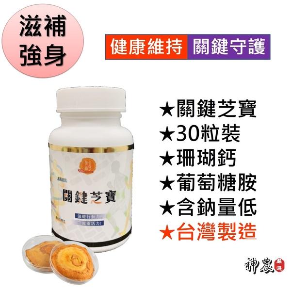 關鍵芝寶膠囊 30粒 專利UC2 葡萄糖胺 鈣 UC-II 二型膠原蛋白 牛樟芝 運動保健 營養補給 現貨