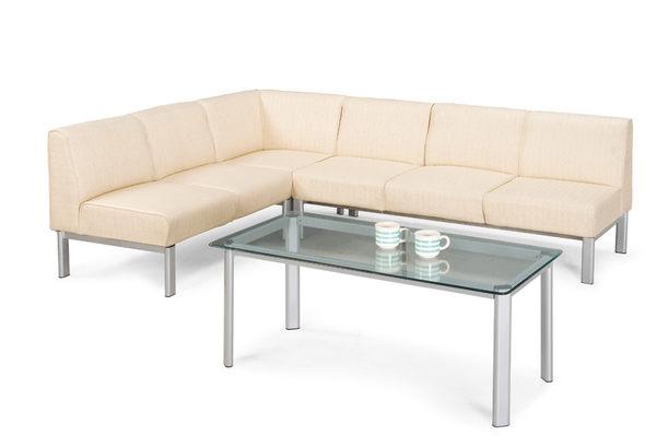【 IS空間美學】102L型沙發組-米白色皮(不含大小茶几/1+2+3人座)