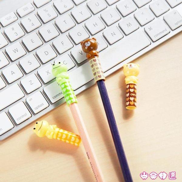 得力 兒童鉛筆套鉛筆保護套四個裝 小學生寫字延長筆蓋筆帽握筆器