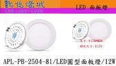 燈城LED Light Link ~APL PB 2504 81 LED 超薄圓形面板燈