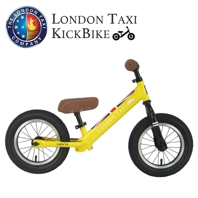 【愛吾兒】英國 London Taxi 專業充氣胎幼兒平衡滑步車-黃