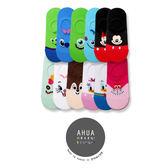 韓國迪士尼品牌襪子 彩色全版卡通人物 隱形襪