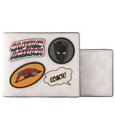 【COACH】Marvel x Coach 聯名英雄圖案附活動式證件照短夾(白色) 1847 QBCAH
