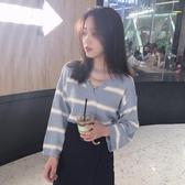 2018秋裝新款韓版套頭長袖針織衫chic秋天上衣寬鬆慵懶風毛衣女潮