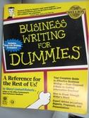 【書寶二手書T6/語言學習_HMZ】Business writing for dummies-A reference f