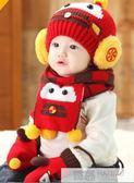 加絨男女童寶寶帽秋冬1-2歲嬰兒帽子0-3 6-12個月兒童保暖毛線帽 韓慕精品
